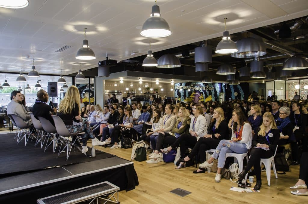 The Business of Wellness Summit at WeWork, London in 2016 -- a conference for startups, brand leaders and investors in the wellness industry.